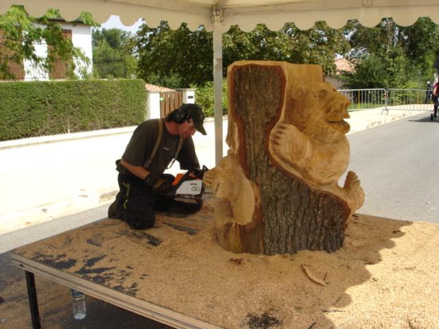 DAUTREMAY  sculpture à la tronçonneuse  Le site de Bréville ~ Sculpter Le Bois
